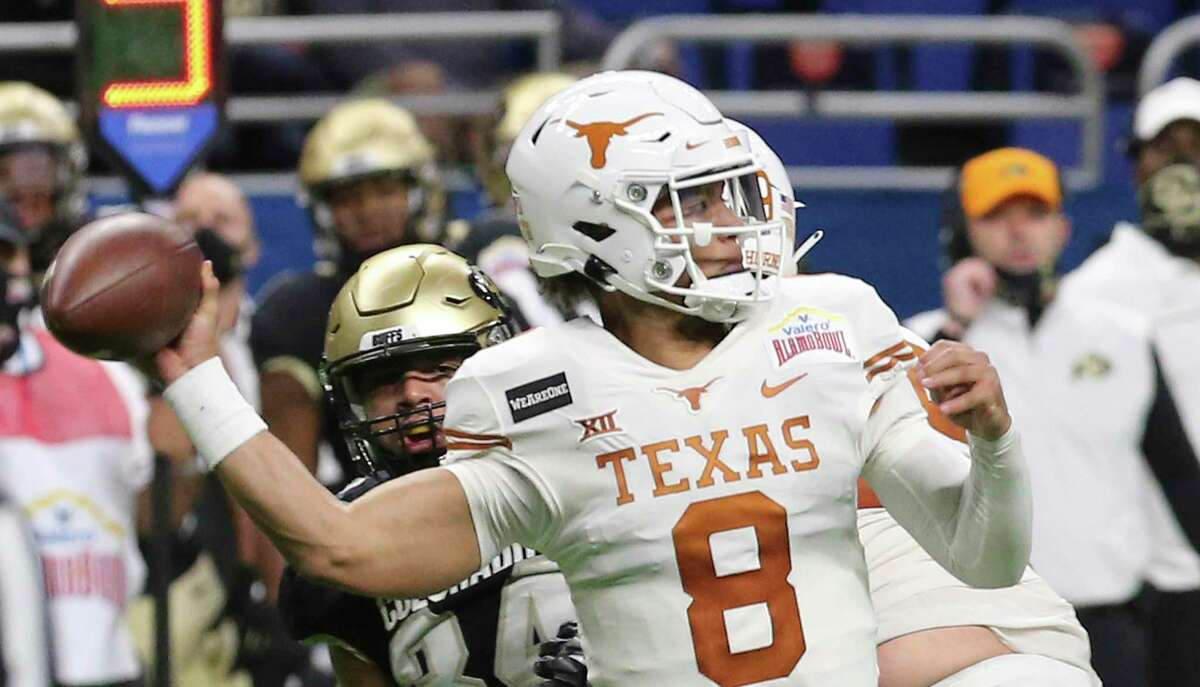 Casey Thompson had a breakout performance against Colorado in the Alamo Bowl when Sam Ehlinger was hurt.