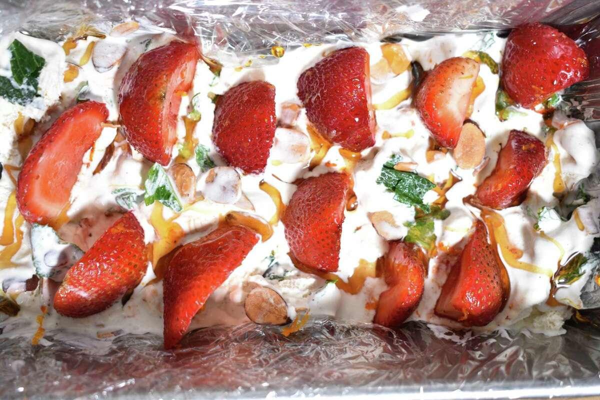 Christian Reynoso's terrazzo ice cream cake.