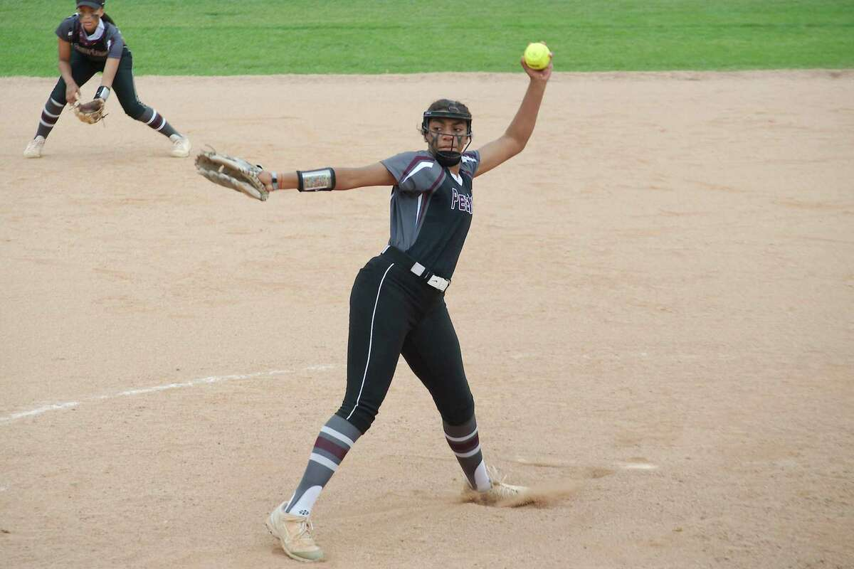 Pearland's Abigail Gutierrez (27) pitched a six-hit shutout against Dawson Friday afternoon.