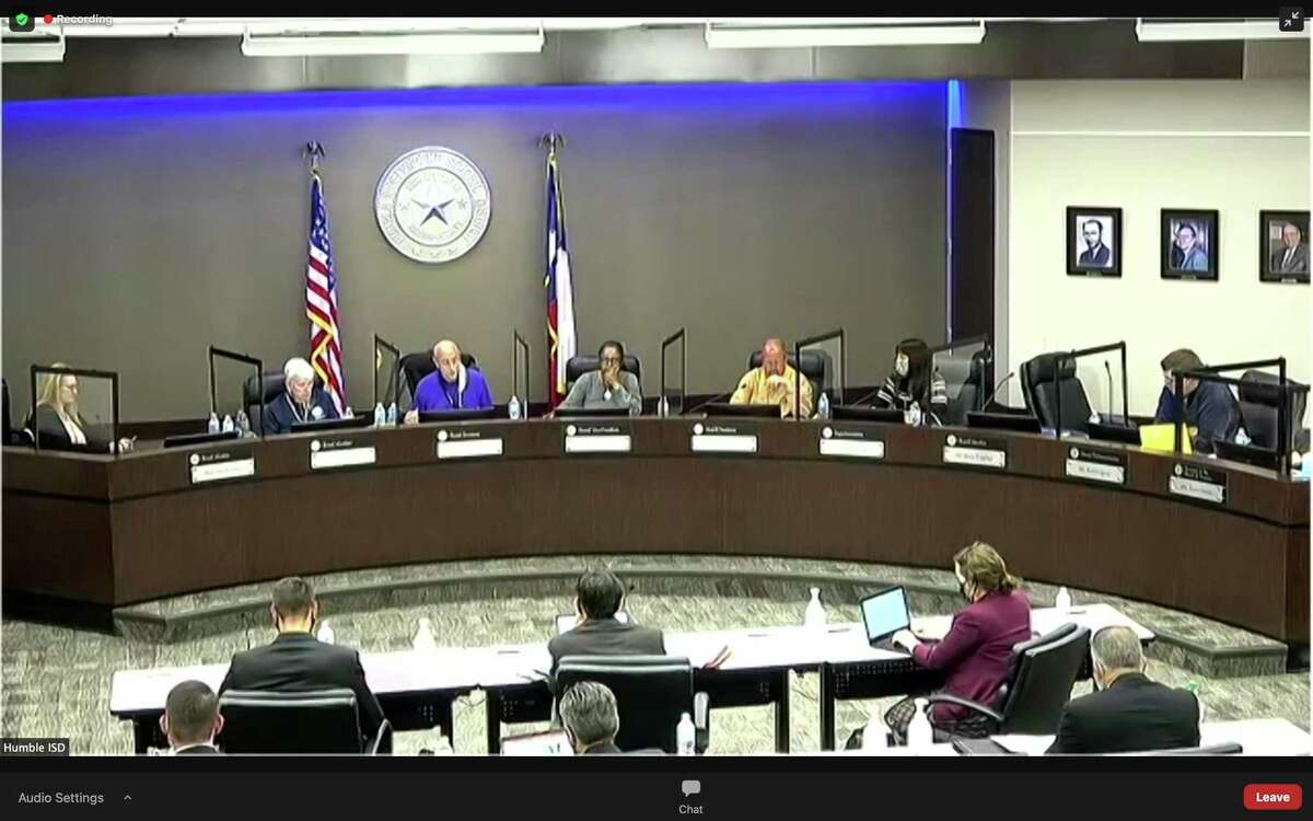 The Humble ISD board of trustees met to discuss the budget for the district.
