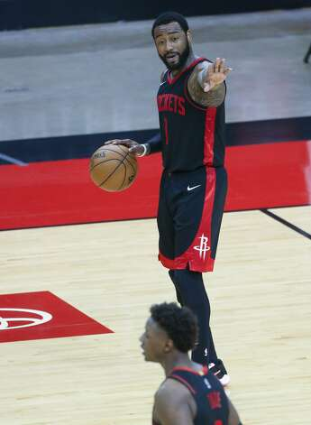 Houston Rockets guard John Wall (1) works to control the offense in the fourth quarter against the LA Clippers at the Toyota Center in Houston on Friday, April 23, 2021. LA Clippers won the game 109-104. Photo: Elizabeth Conley/Staff Photographer / © 2021 Houston Chronicle