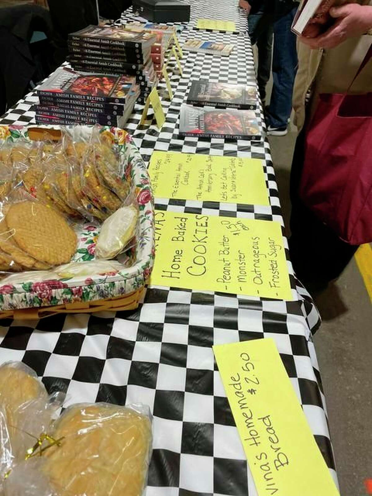 Lovina appreciated the opportunity to do a book signing and share some baked goods at the Plain and Simple Craft Fair in Shipshewana, Indiana. (Courtesy photo)