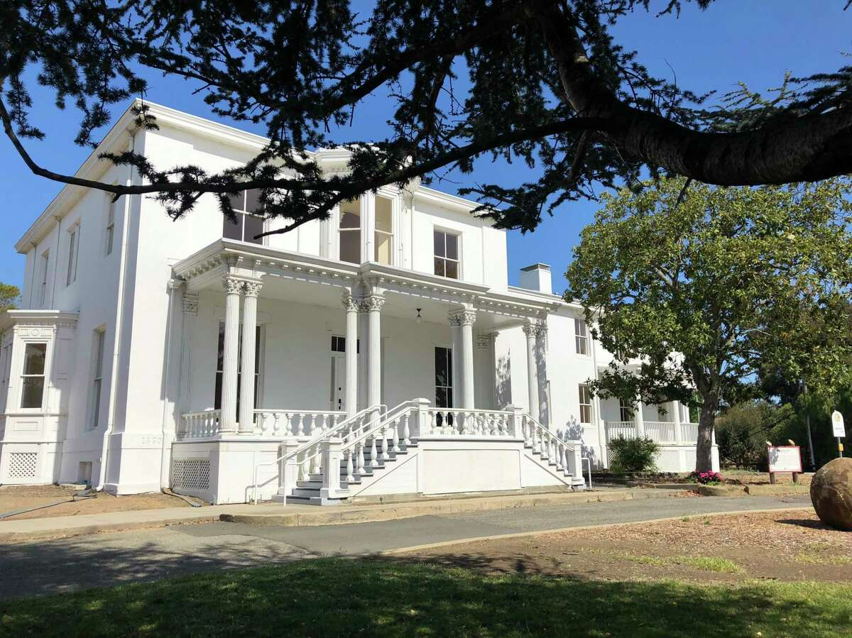 The beautiful white Victorian commanding officer's house is a remnant of Benicia's Army days.