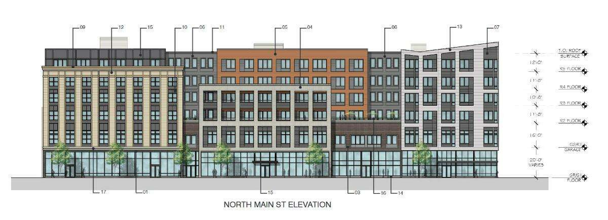 Plans for a six-story residential and retail building in Port Chester, close to the Greenwich border, have been approved.