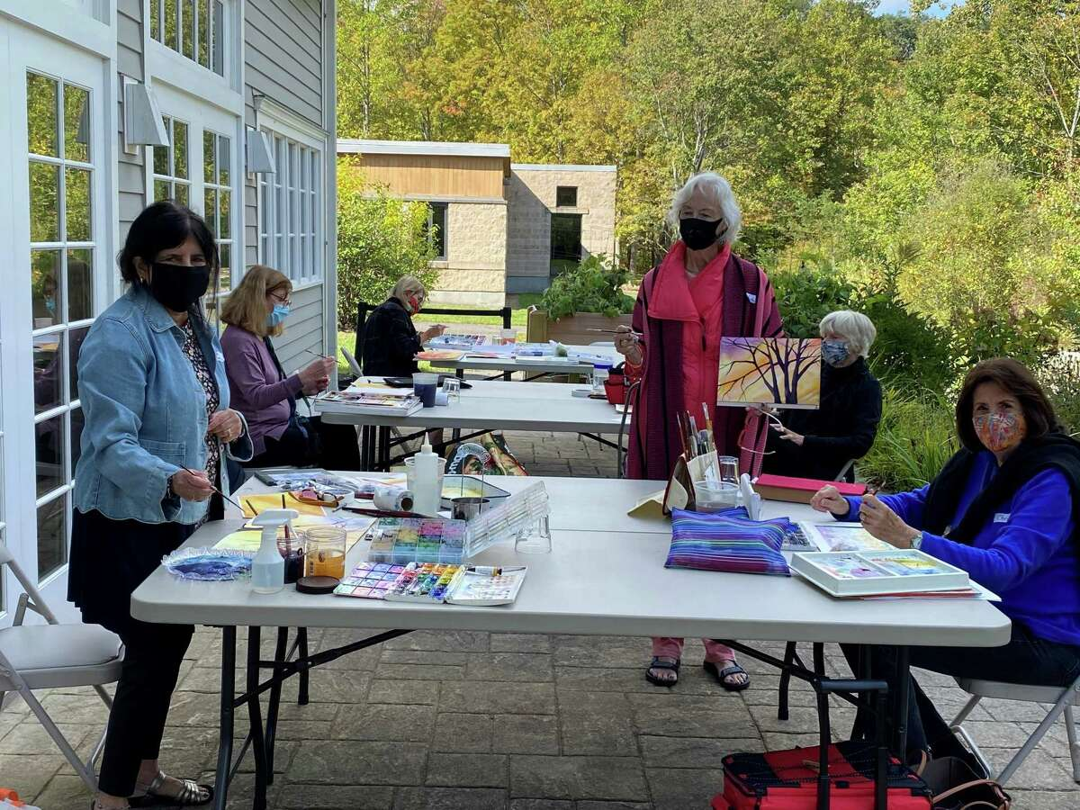 Last fall, seniors enjoyed a painting class that focused on renowned artist Claude Monet.