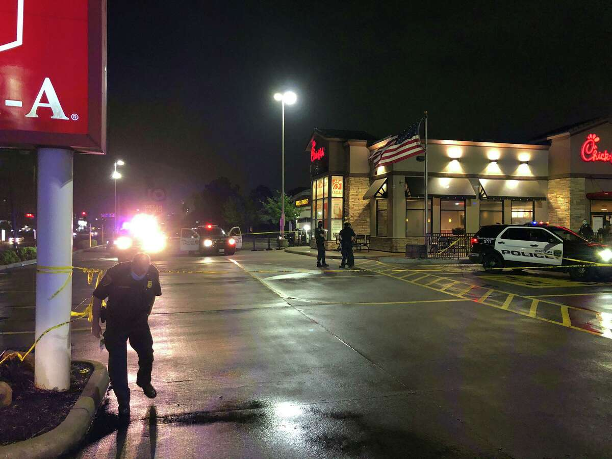 A woman was fatally shot Friday night outside a Chick-fil-A in Houston.