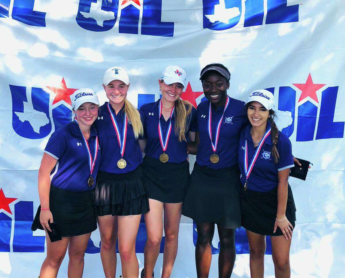 The Ridge Point girls golf team qualified for the Class 6A state tournament, finishing third with a two-day score of 606, April 19-20 at Gleannloch Pines Golf Club.
