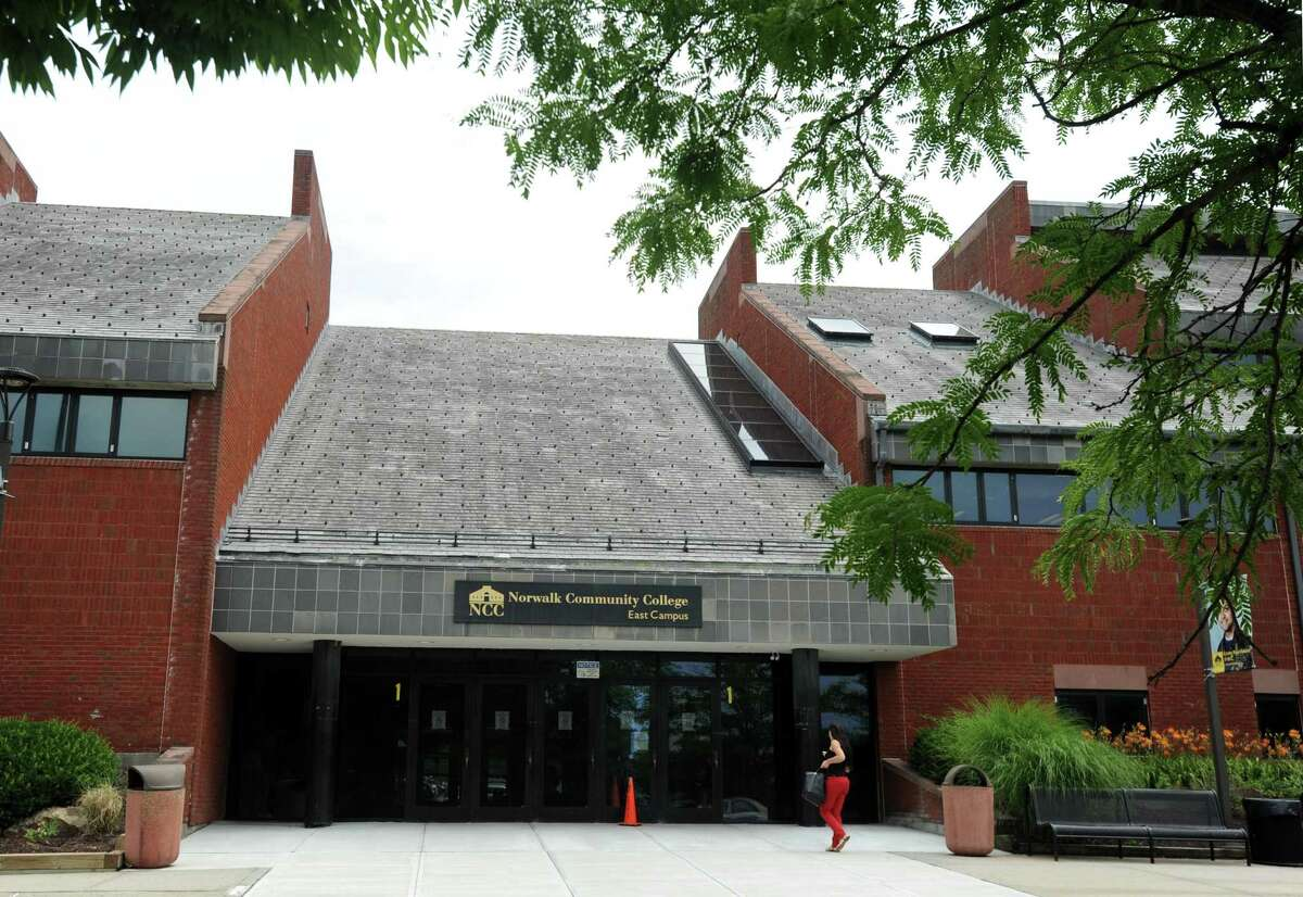 A file photo of the exterior of Norwalk Community College at 188 Richards Ave. in Norwalk, Conn.