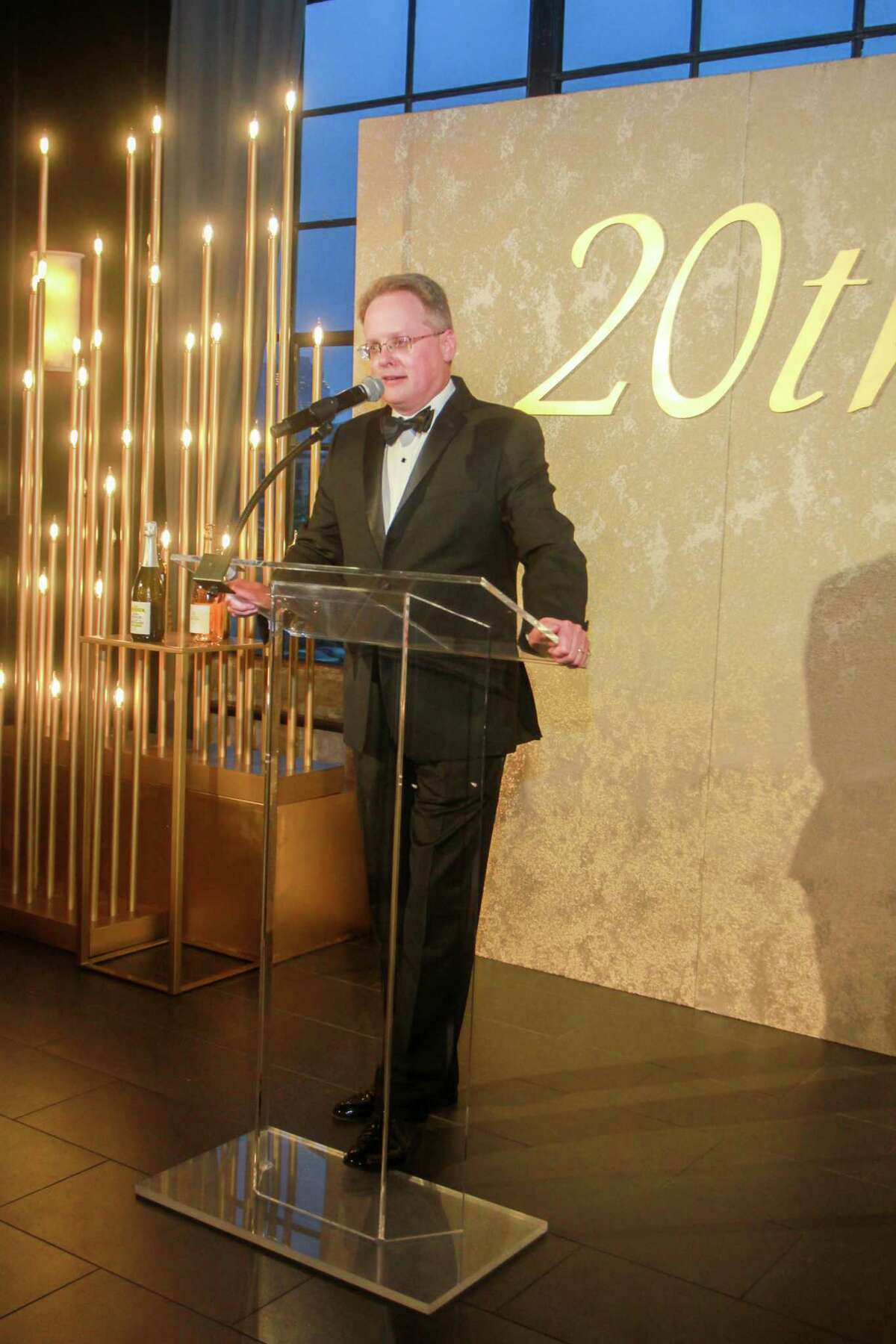 John Mangum at the Houston Symphony Wine Auction and Collector's Dinner on April 23, 2021.