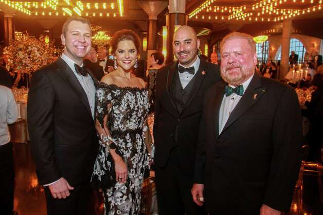 Jonathan and Ann Ayre, from left, with Steven McDonald and John Rydman at the Houston Symphony Wine Auction and Collector's Dinner on April 23, 2021. Photo: Gary Fountain, Contributor / Copyright 2021 Gary Fountain