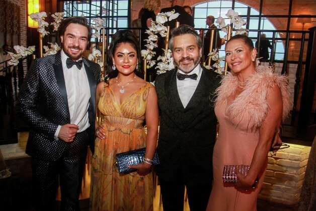 Rubens Franz, from left, Elia Gabbanelli, Bernie Cantu and Rosangela Capobianco  at the Houston Symphony Wine Auction and Collector's Dinner on April 23, 2021. Photo: Gary Fountain, Contributor / Copyright 2021 Gary Fountain