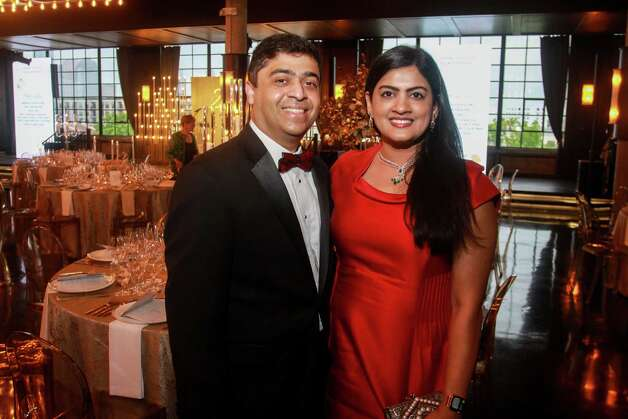 Vivek and Ishwaria Suddiah at the Houston Symphony Wine Auction and Collector's Dinner on April 23, 2021. Photo: Gary Fountain, Contributor / Copyright 2021 Gary Fountain