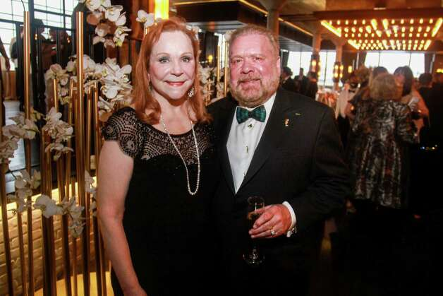 Lindy and John Rydman at the Houston Symphony Wine Auction and Collector's Dinner on April 23, 2021. Photo: Gary Fountain, Contributor / Copyright 2021 Gary Fountain