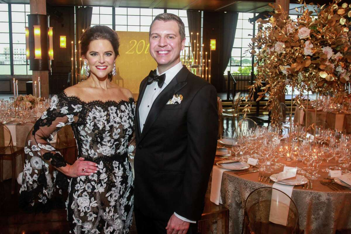 Ann and Jonathan Ayre at the Houston Symphony Wine Auction and Collector's Dinner on April 23, 2021.