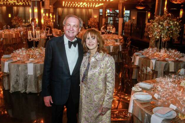 Ralph Burch and Vicki West at the Houston Symphony Wine Auction and Collector's Dinner on April 23, 2021. Photo: Gary Fountain, Contributor / Copyright 2021 Gary Fountain