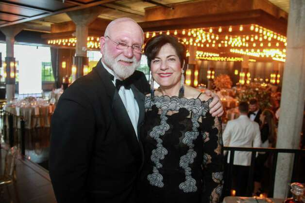 Michael and Ellie Francisco at the Houston Symphony Wine Auction and Collector's Dinner on April 23, 2021. Photo: Gary Fountain, Contributor / Copyright 2021 Gary Fountain