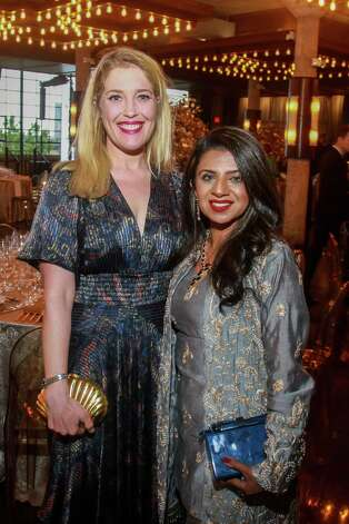 Jennifer Roosth, left, and Farida Abjani at the Houston Symphony Wine Auction and Collector's Dinner on April 23, 2021. Photo: Gary Fountain, Contributor / Copyright 2021 Gary Fountain