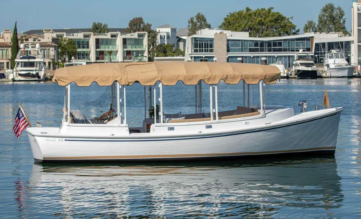 Duffy, 22 Cuddy, an electric powered boat.