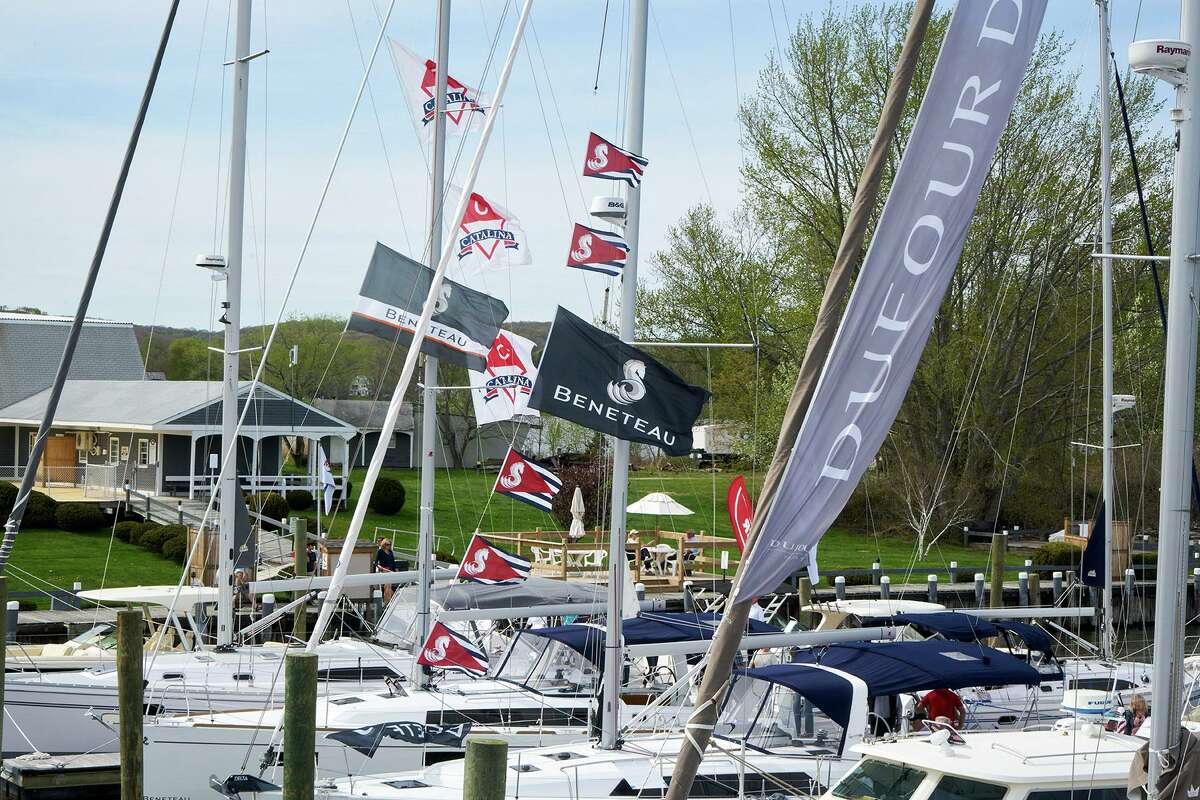 Scene from the 2019 boat show in Essex.