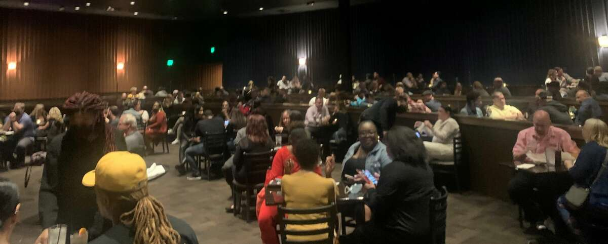 The crowd at socially distanced tables at the reduced-capacity Funny Bone Comedy Club at Crossgats Mall in Guilderland before the late show by actor-comedian Damon Wayans on Saturday, April 24, 2021. (Steve Barnes/Times Union)