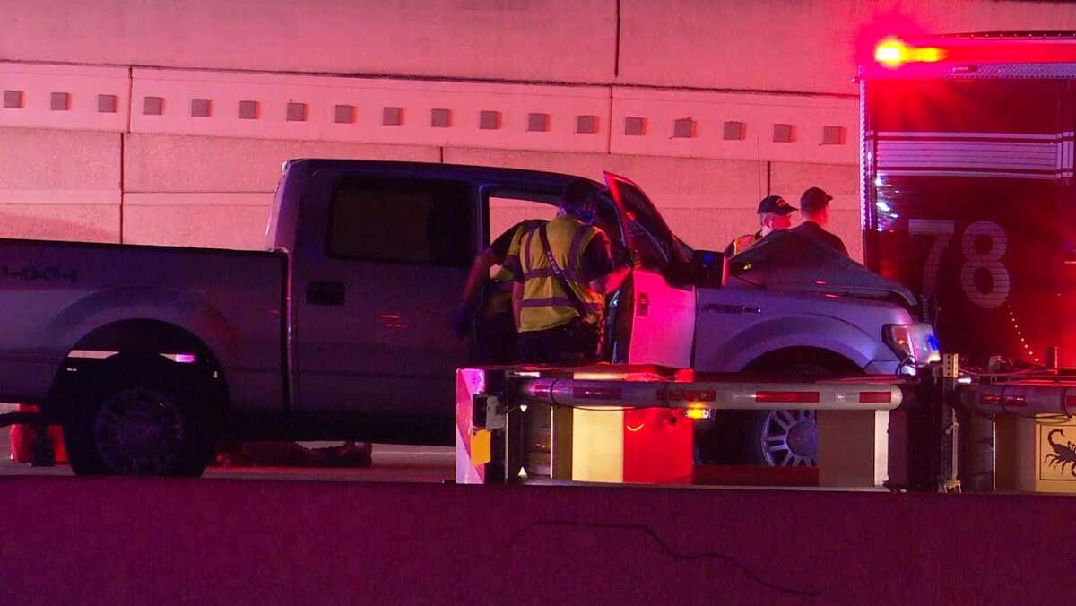 Two people, including an off-duty Patton Village police officer, were hurt April 25, 2021, in a crash along the Katy Freeway.