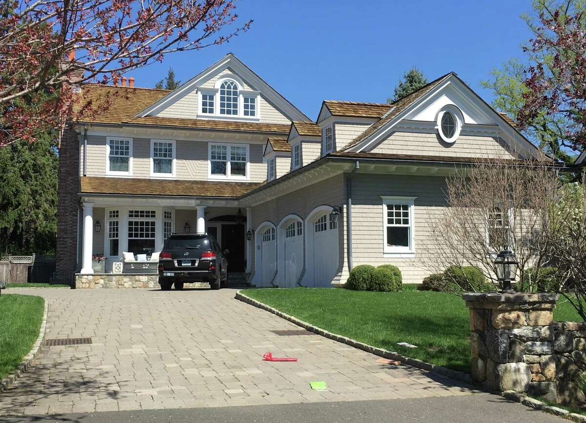 A Riverside Avenue home in Greenwich, Conn., listed for sale in April 2021 for $5.6 million.