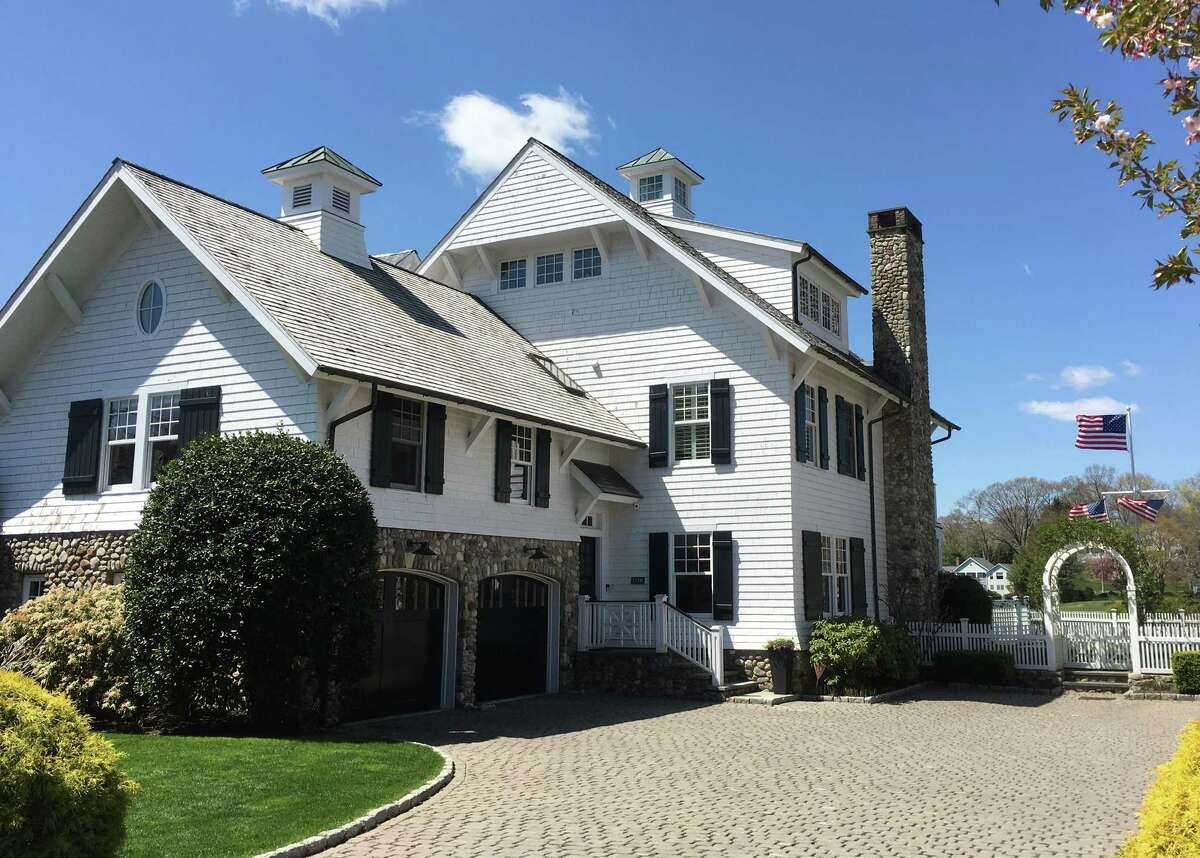 A riverside townhouse at 133 Rowayton Ave. in Norwalk, Conn., listed for $5.2 million in April 2021.