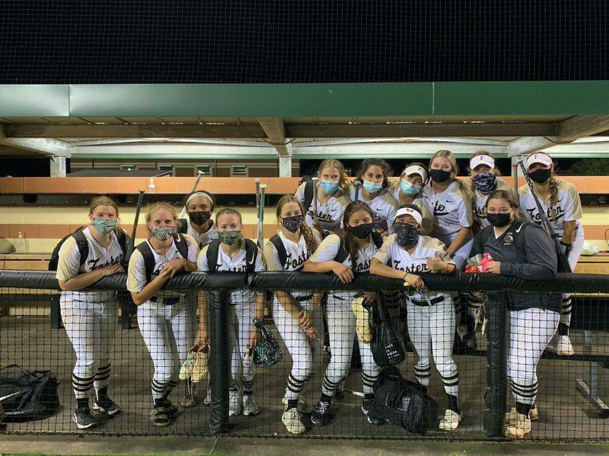 The Foster softball team clinched the District 24-5A championship with a 6-5 victory against Angleton. The Falcons added a 2-0 win against Lamar Consolidated to complete a 16-0 district season.