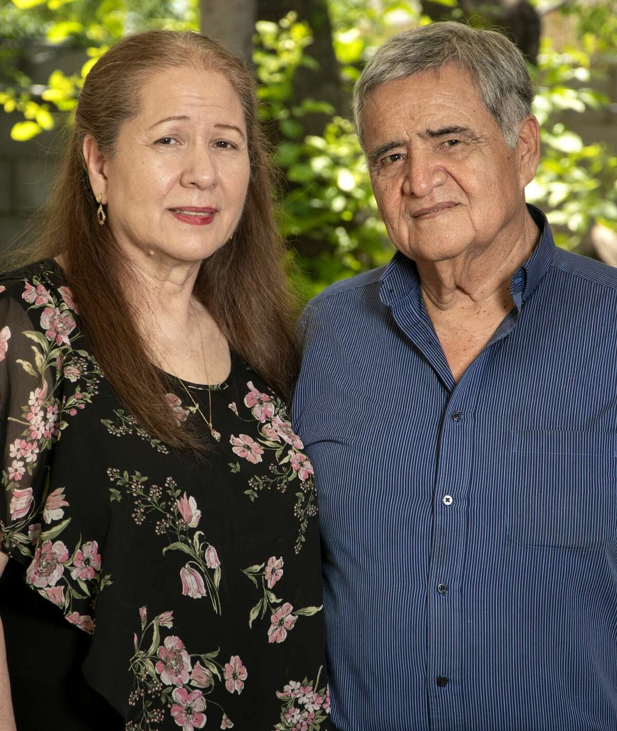 Carlos and Olga Silva pose for a feature photo at their home, Wednesday, Apr. 7, 2021, for a DVINO Magazine feature on their 50 years of marriage.