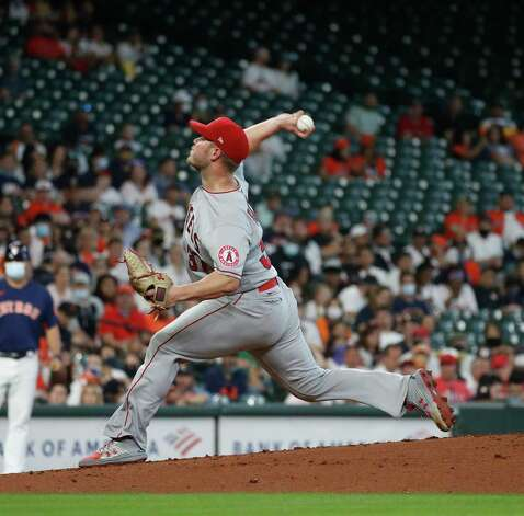 Los Angeles Angels starting pitcher Dylan Bundy (37) pitches during the first inning of an MLB baseball game at Minute Maid Park, Sunday, April 25, 2021, in Houston. Photo: Karen Warren, Staff Photographer / @2021 Houston Chronicle