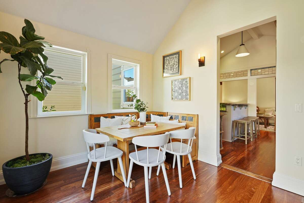 There is both a formal dining room and this informal breakfast nook off the kitchen.