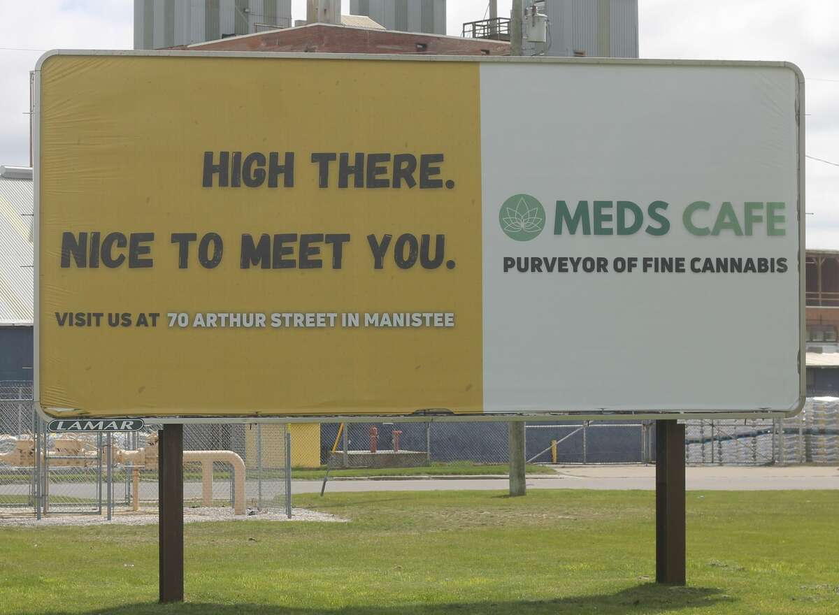 Bills have also been introduced by Reps. Mary Whiteford, R-Casco Township, and Abdullah Hammoud, D-Dearborn, to ban the advertisement of medical and recreational marijuana sales on billboards such as this one.