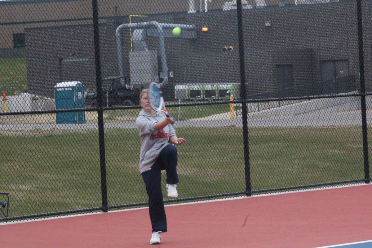 Big Rapids' tennis girls took second place at their home quad on Saturday behind Mount Pleasant