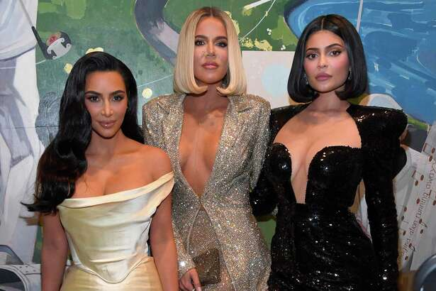 Kim Kardashian West, from left, Khloe Kardashian and Kylie Jenner.