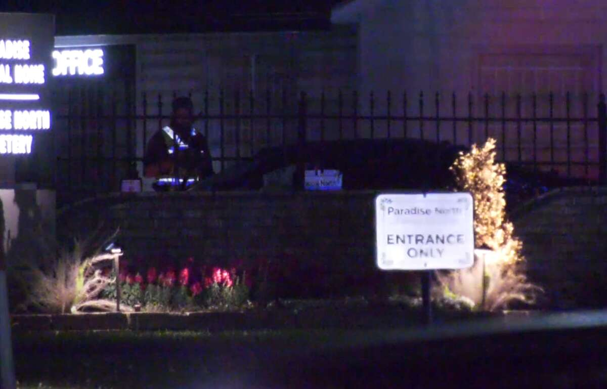 A man was killed April 26, 2021, after crashing into a funeral home in the 9700 block of W. Montgomery Road.