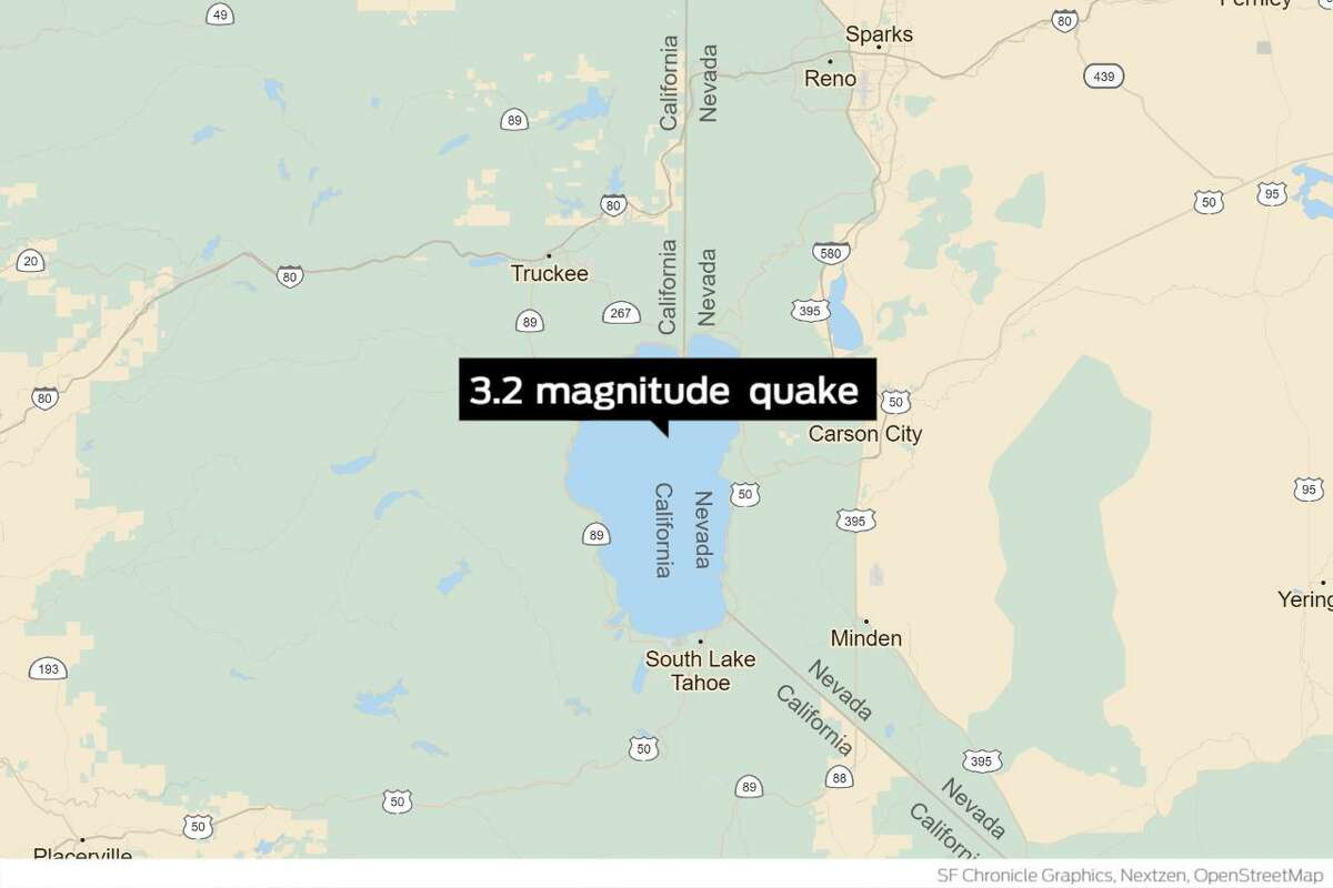 A 3.2 magnitude earthquake shook parts of South Lake Tahoe early Monday morning, according to the United States Geological Survey.