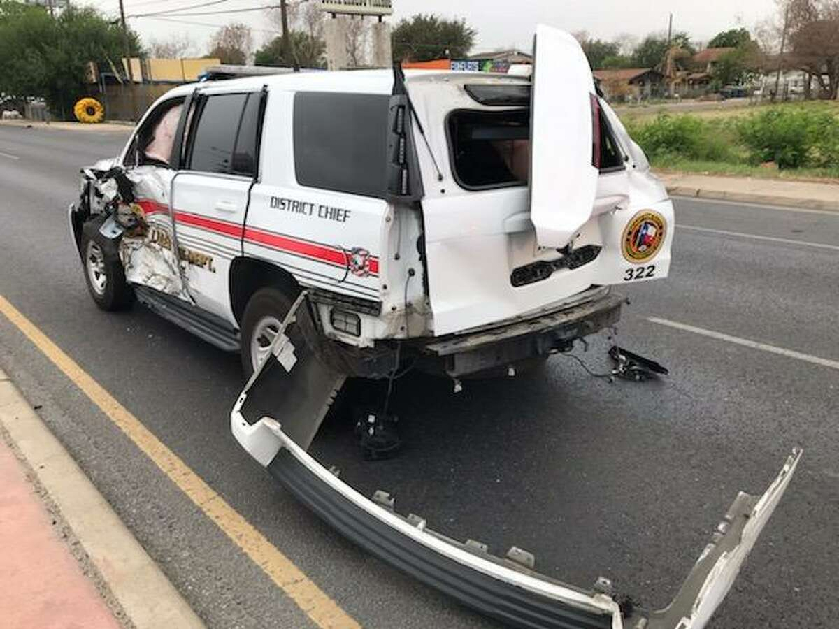 A Laredo Fire Department unit was involved in a crash on Monday morning in the intersection of Jaime Zapata Memorial Highway and U.S. 83. First responders said the unit was en route to a house fire in south Laredo.