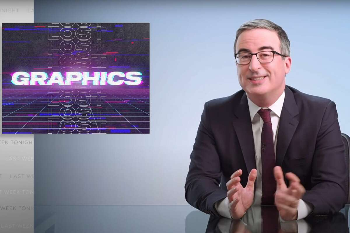 """John Oliver shares unreleased graphics from """"Last Week Tonight"""" in a special web exclusive clip."""