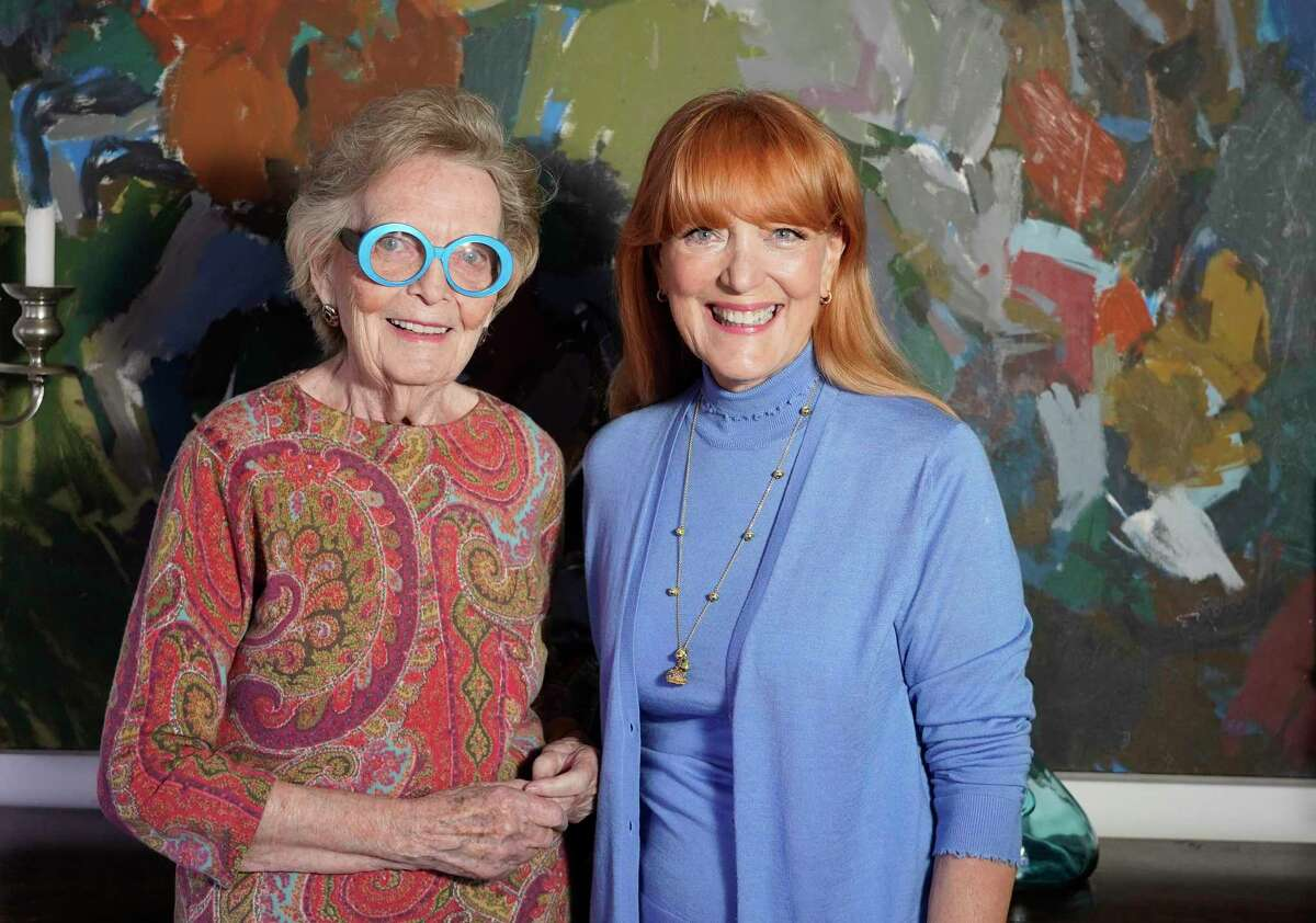 Peg Lee, left, and Recipe for Success founder Gracie Cavnar, right. Lee, the former director of Rice Epicurean cooking school and the cooking school at Central Market, is being honored by the Recipe for Success Foundation at its Delicious Alchemy Banquet on May 3 at Hope Farms.