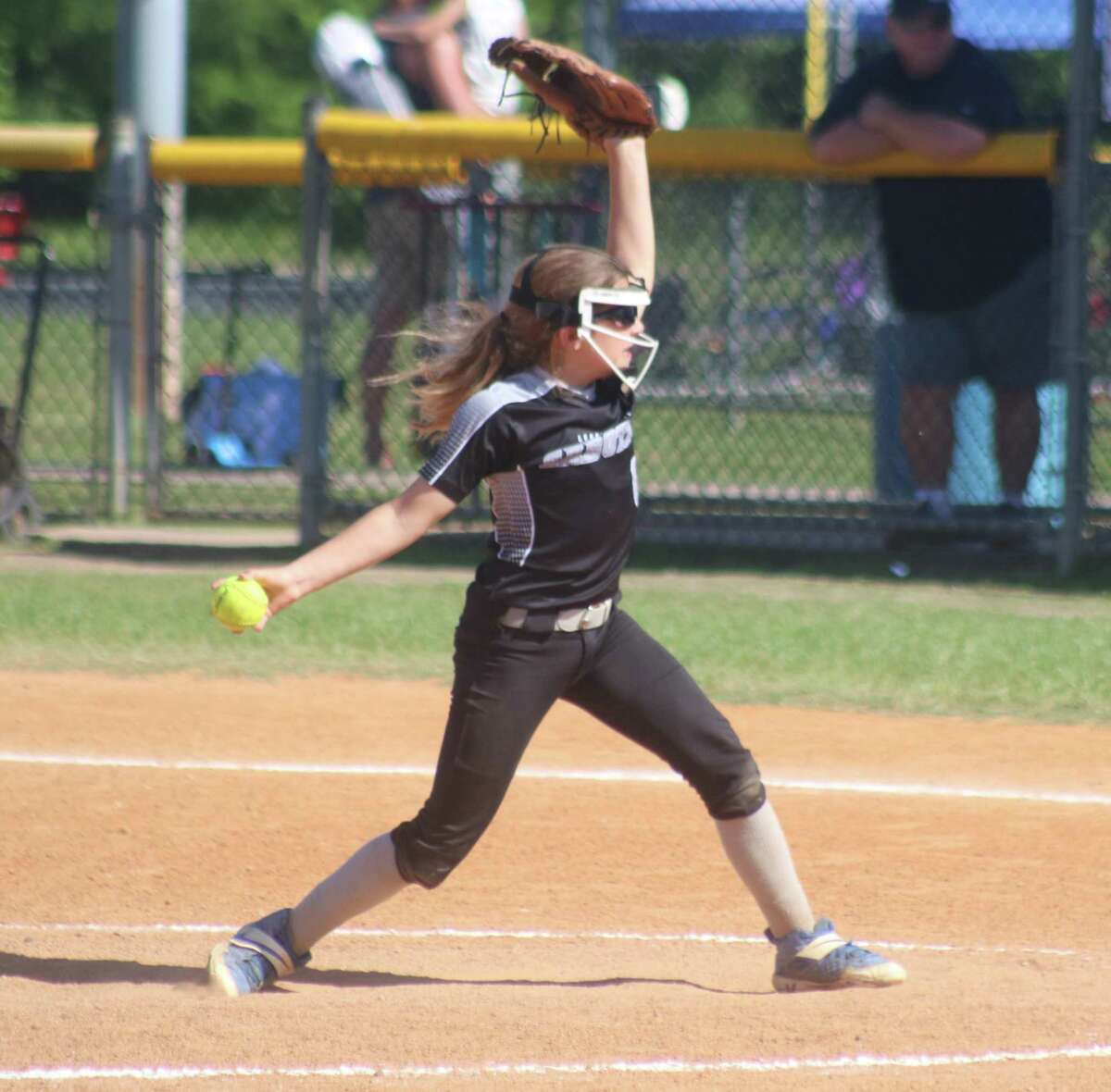Sabotage pitcher Audrey Hart was effective enough Sunday afternoon to keep her teammates within striking distance. She finished with seven strikeouts.