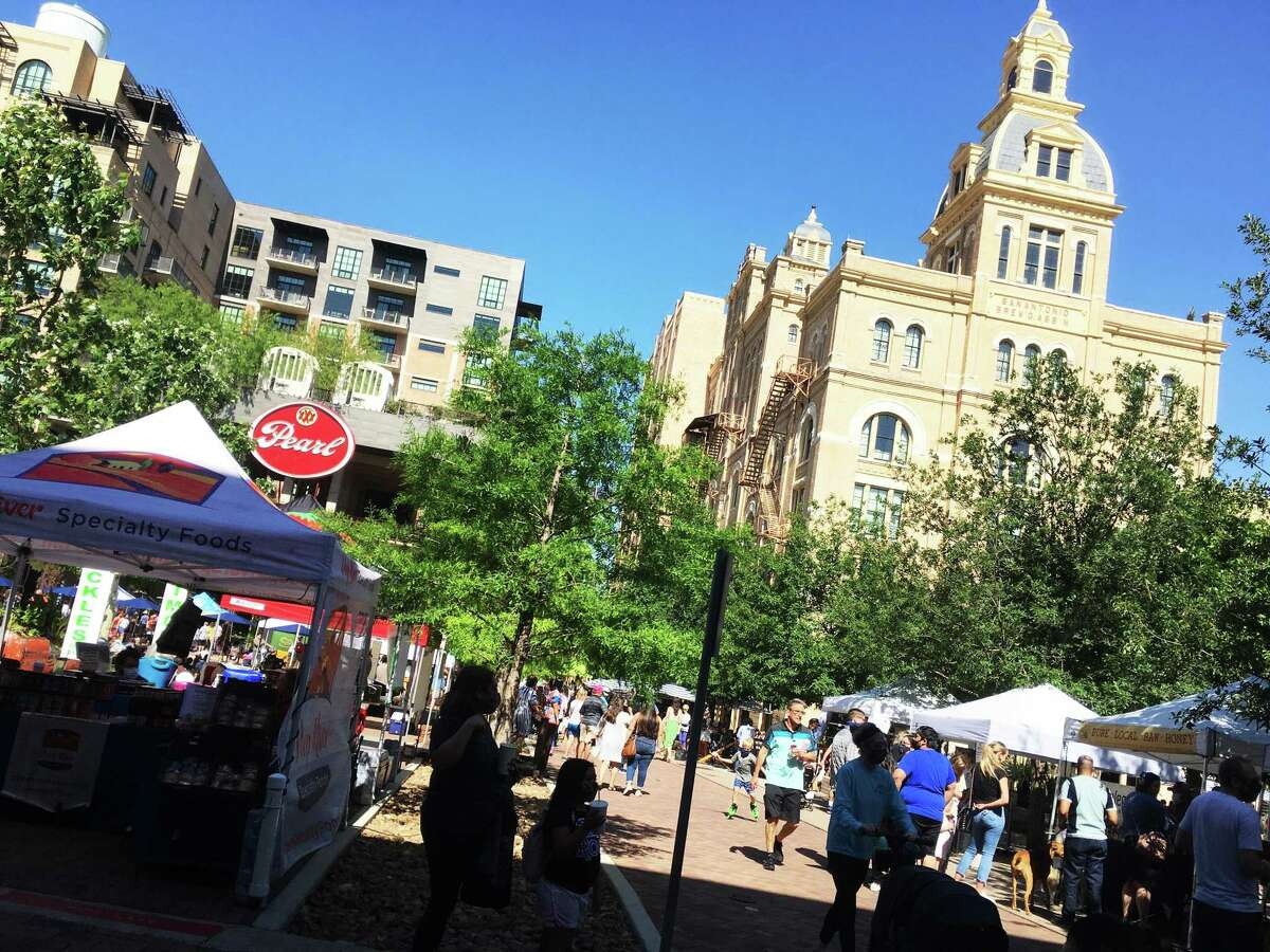 The Pearl Farmers Market is a popular San Antonio attraction on the weekends. The Pearl district was one of the places Esquire says visitors should visit when traveling to San Antonio, which the magazine named as one of five U.S. cities you should visit after a year of quarantine.