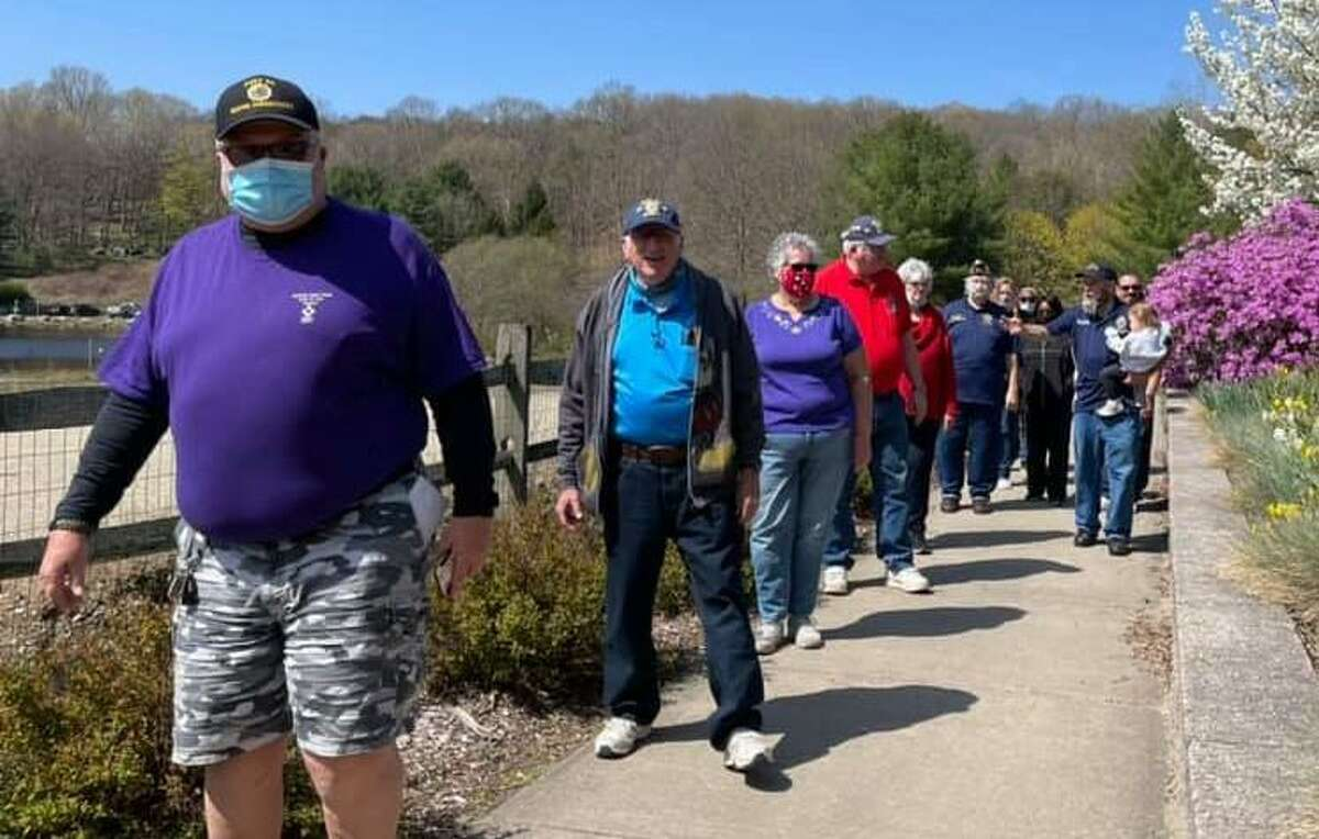 Veterans from throughout Fairfield County participated in the 25th American Legion 3rd District of Connecticut's Kids Walk at Great Hollow Lake in Monroe on April 24, 2021.