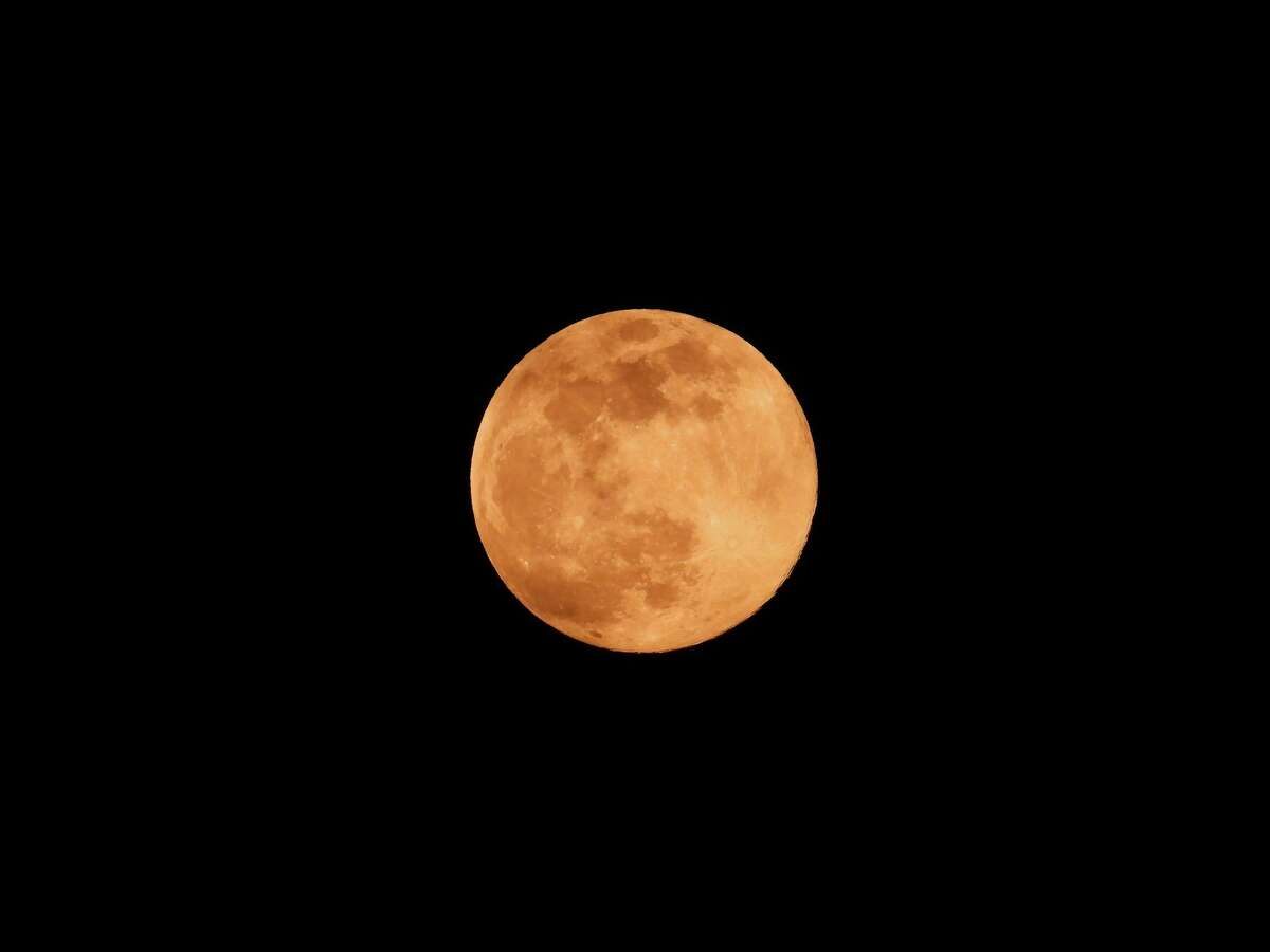 The pink super moon in April occurs in perigee, that is, when the moon is at the closest point to the earth.