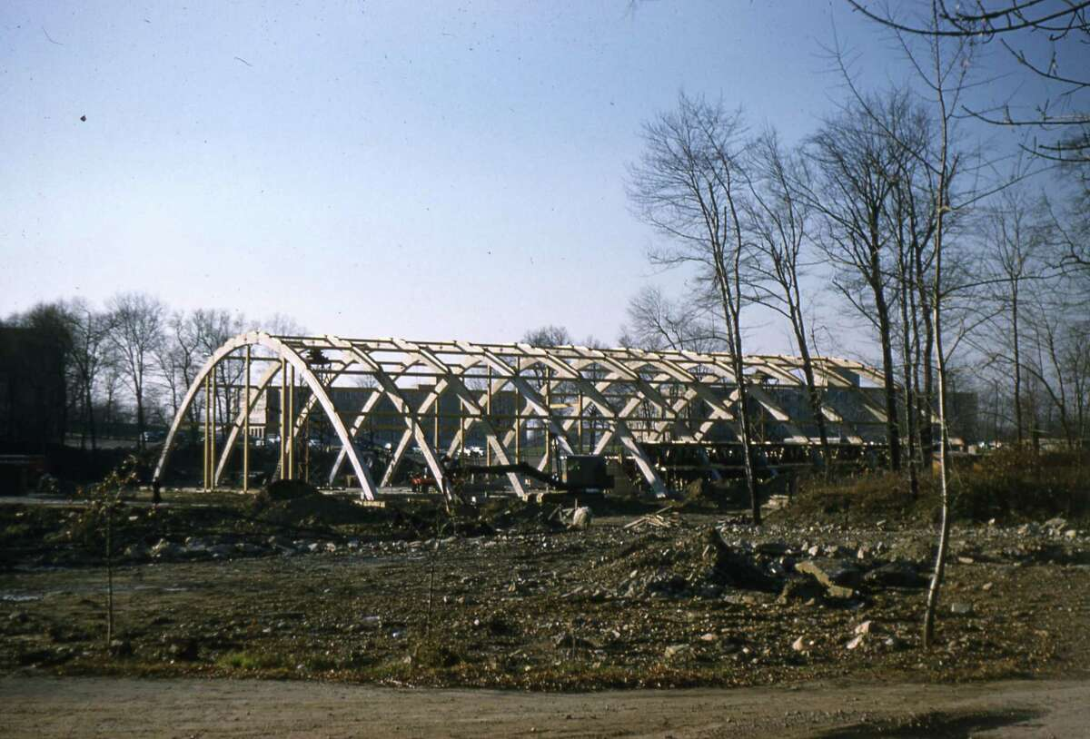 Alumni Hall was completed in 1959. Its construction methods were considered innovative at the time.
