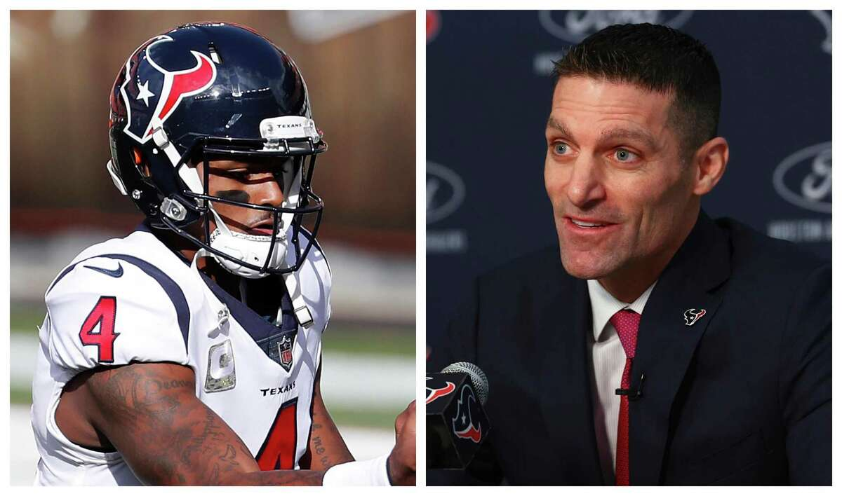 Texans GM Nick Caserio will likely wait until Deshaun Watson's legal issues are settled before trading the quarterback.