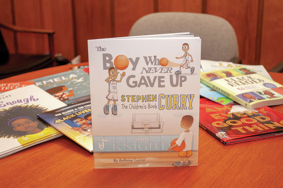 """""""The Boy Who Never Gave up"""" by Stephen Curry is one of the many books for available for Jacksonville elementary and middle school students. It deals with self-confidence and never giving up. The books, provided by Jacksonville's NAACP chapter, are intended to help teach students about different cultures."""