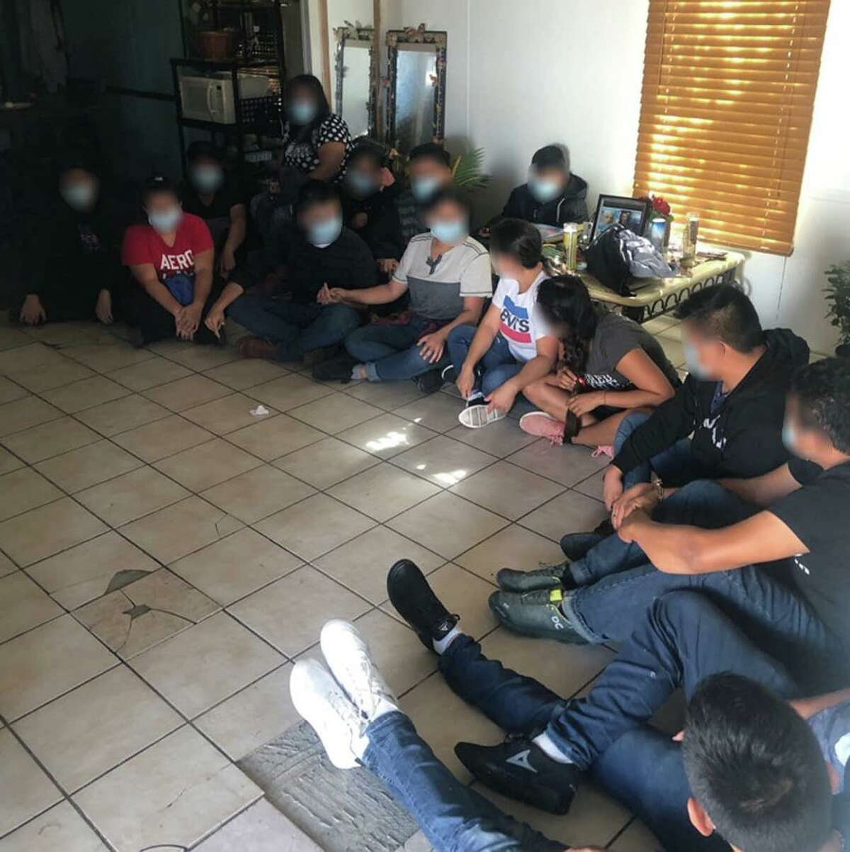 U.S. Border Patrol agents along with Laredo police officers discovered this stash house that was loaded with 15 immigrants who had crossed the border illegally.