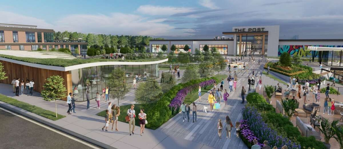 An October 2020 rendering of a potential residential development at the Connecticut Post Mall in Milford.