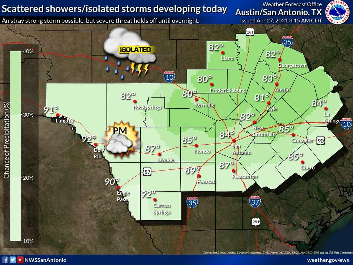 Rain chances ramp up starting on Tuesday.