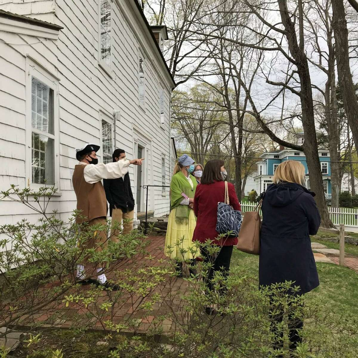 The Keeler Tavern Museum & History Center commemorates the Battle of Ridgefield with activities and programs for audiences of all ages, including a colonial walking tour, seen here.